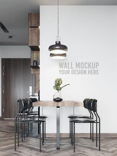 Makieta ściany jadalni Premium Psd