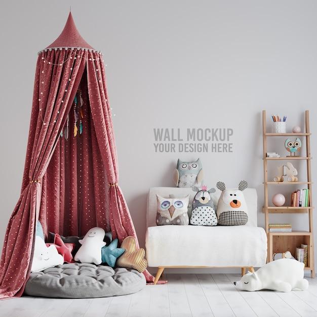 Makieta ściany Wewnętrznej Zabaw Dla Dzieci Premium Psd