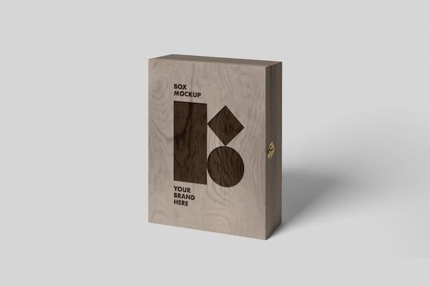 Makieta Skrzynki Drewnianej Premium Psd
