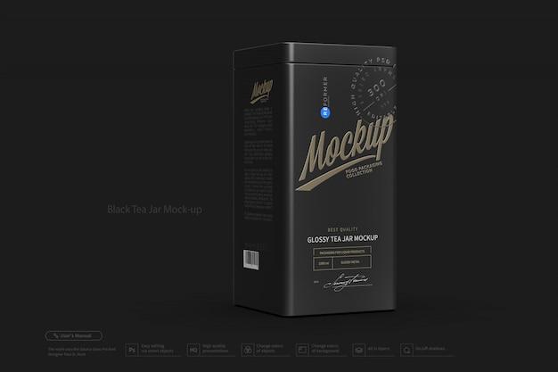 Makieta Słoika Czarnej Herbaty Premium Psd