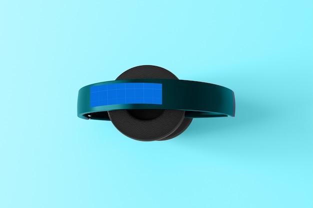 Makieta Słuchawek Niebieski Premium Psd