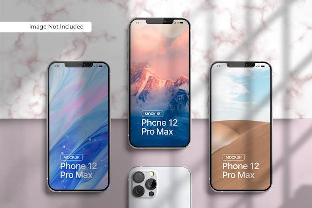Makieta Smartfona 12 Pro Max Premium Psd