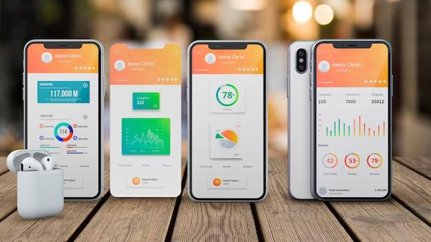 Makieta Smartfona Dla Aplikacji Darmowe Psd