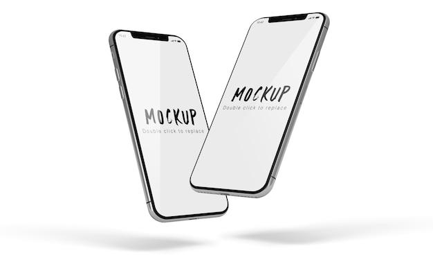 Makieta Smartphone Na Białym Tle Psd Premium Psd