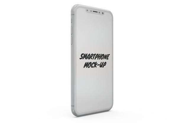 Makieta smartphone na białym tle Darmowe Psd