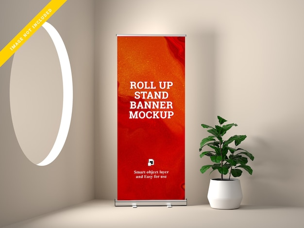 Makieta Stojaka Roll Up Banner Premium Psd