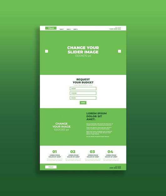 Makieta Strony Zielonej Strony Premium Psd