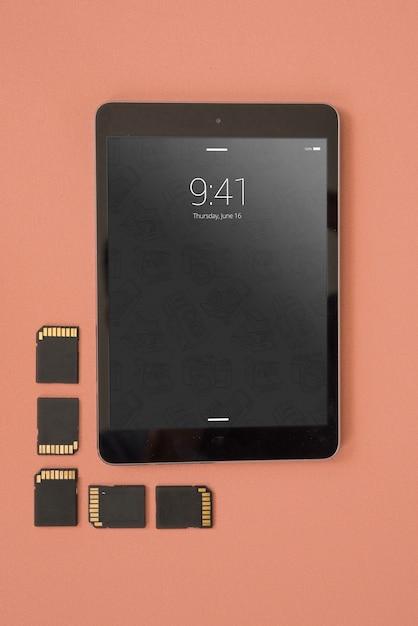 Makieta tablet z koncepcją fotografii Darmowe Psd