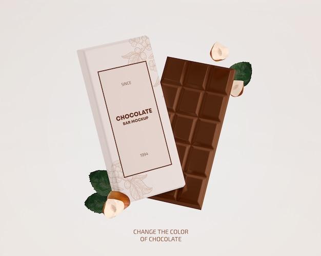 Makieta tabliczki czekolady Premium Psd