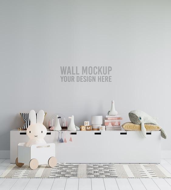 Makieta Tapety Wnętrza Pokoju Dziecięcego Premium Psd