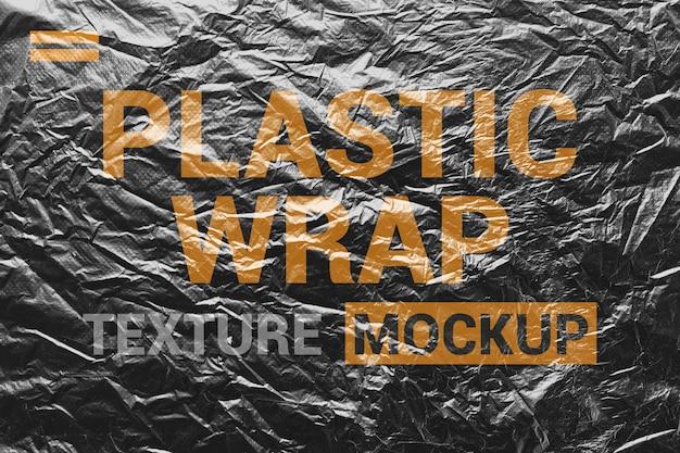 Makieta Tekstura Zmięty Plastik Premium Psd