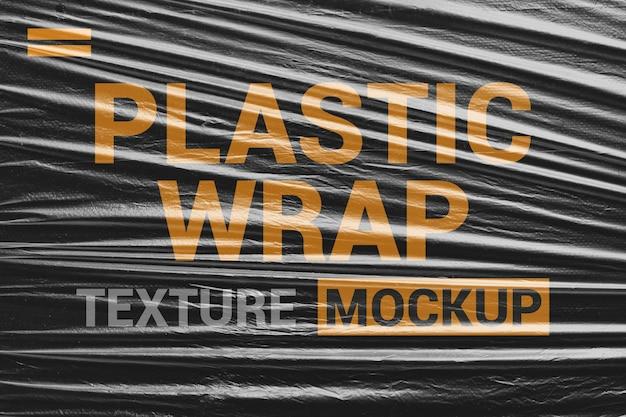 Makieta Tekstury Przezroczyste Plastikowe Opakowanie Premium Psd