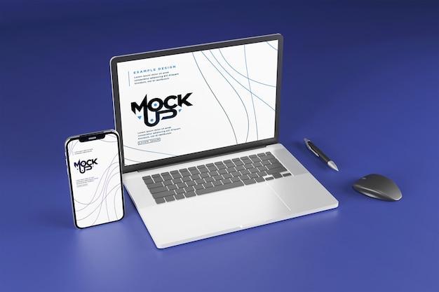 Makieta Urządzenia Cyfrowego Na Białym Tle Premium Psd
