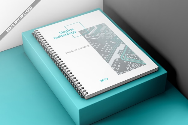 Makieta Wiążąca Książka Kreatywnych Spirali Premium Psd