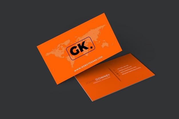 Makieta wizytówek. Premium Psd