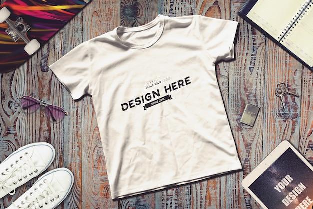 Makieta z t-shirtami Premium Psd