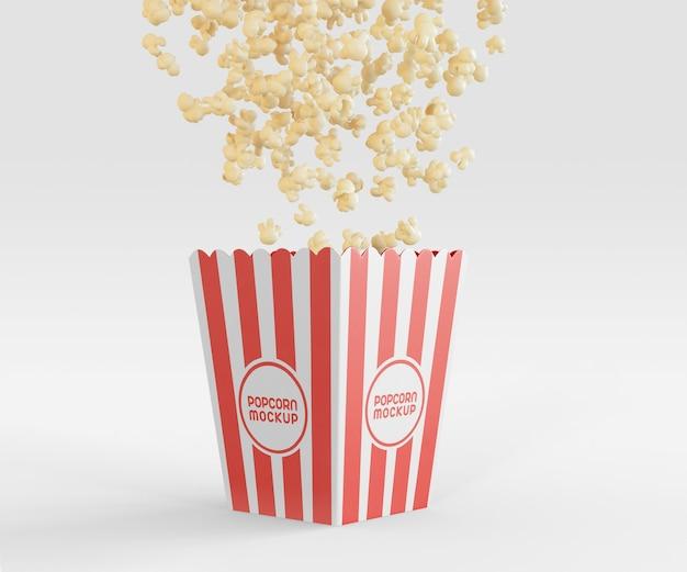 Makieta Z Wiadrem Popcornu Darmowe Psd
