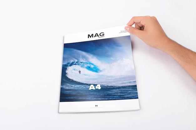 Makieta Zamkniętego Magazynu Cover Premium Psd