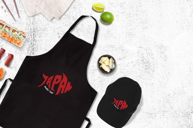 Makieta żywności z projektu sushi Premium Psd