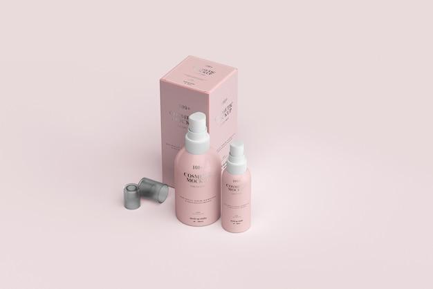 Makiety Kosmetycznych Butelek Z Rozpylaczem Premium Psd