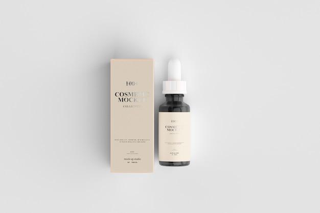 Makiety Kosmetycznych Butelek Z Zakraplaczem Premium Psd