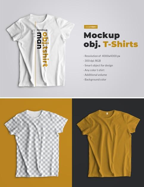 Makiety Koszulki Na Białym Tle. Widok Z Góry Premium Psd