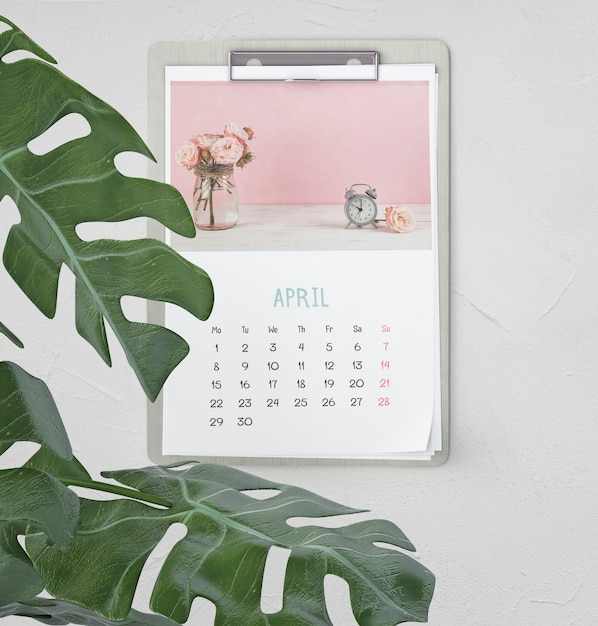 Makiety ręcznie rysowane kalendarza Darmowe Psd
