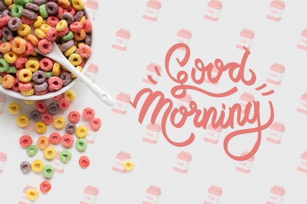 Makiety śniadanie Ze Płatkami Darmowe Psd