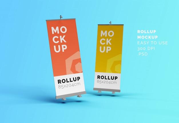 Makiety Transparentów Roll-up Premium Psd
