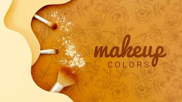 Makijaż Kolorów Dzięki Zestawowi Pędzli Darmowe Psd