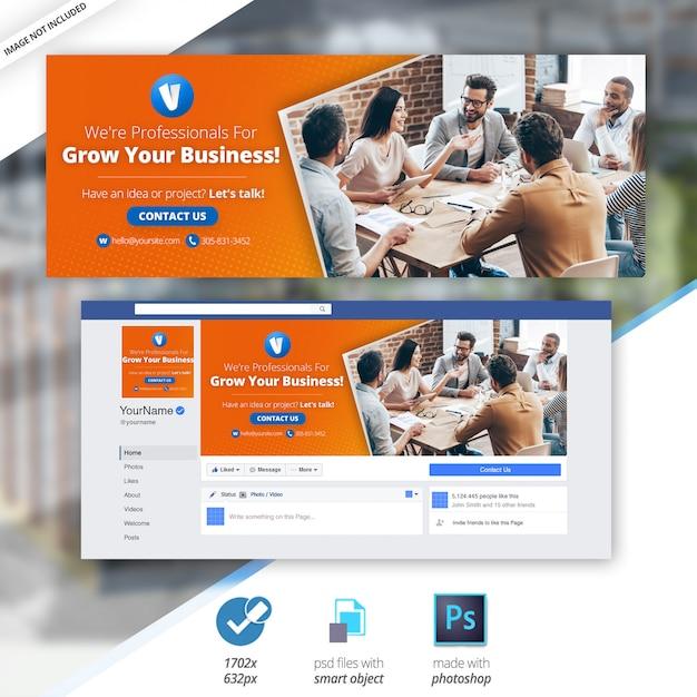 Marketing biznesowy facebook banner oś czasu okładki społecznościowe Premium Psd