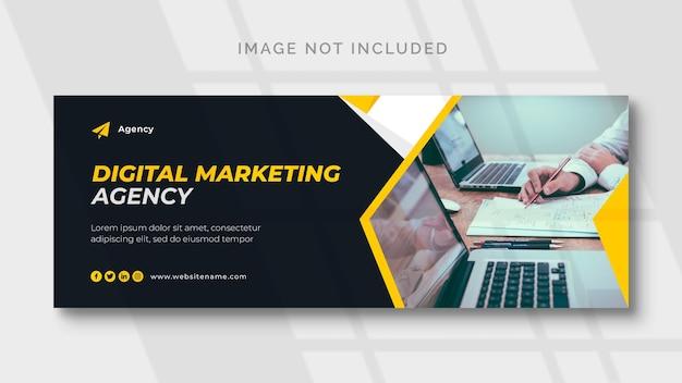 Marketing Cyfrowy Na Facebooku I Szablon Banera Internetowego Darmowe Psd