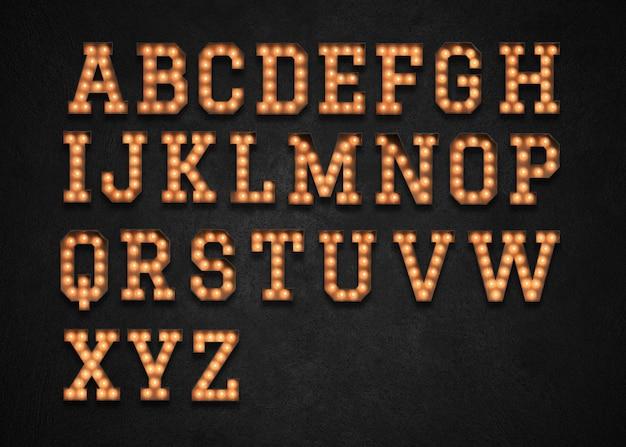Marquee Light Alfabet Az Premium Psd