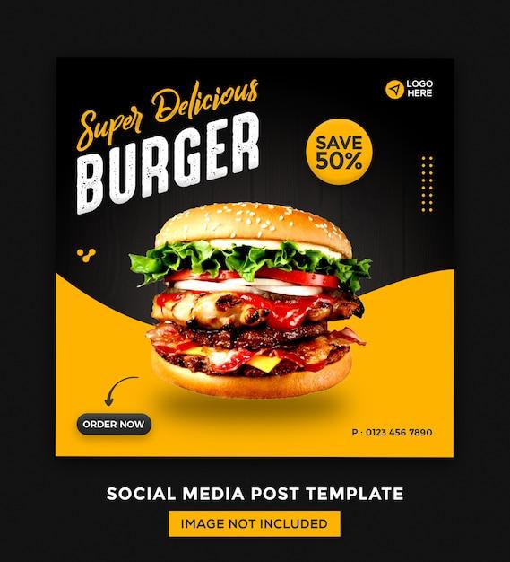 Media Społecznościowe Foods I Szablon Postów Na Instagramie Premium Psd