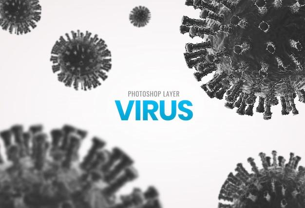 Medyczne Mikroskopijne Wirusowe Komórki Zamykają W Górę Tła Premium Psd