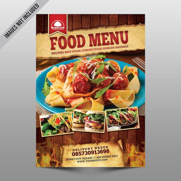 Menu żywności Premium Psd