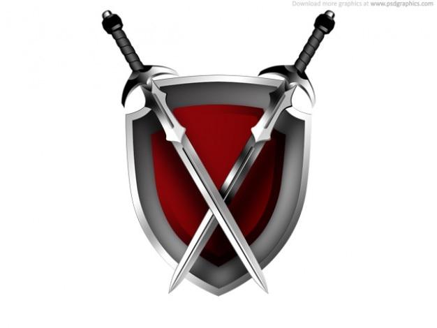 Miecze I Tarcza Ikona Darmowe Psd