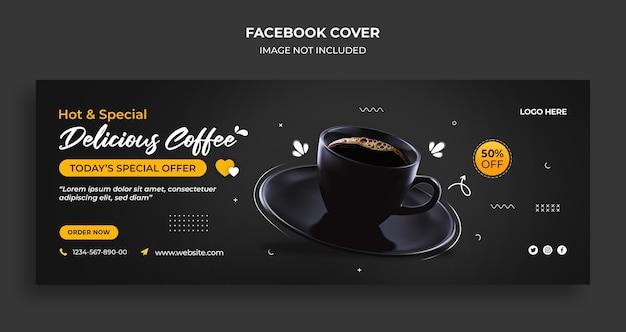 Międzynarodowy Dzień Kawy Na Facebooku Osłona Czasu I Szablon Banera Internetowego Premium Psd