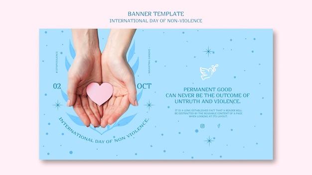 Międzynarodowy Dzień Koncepcji Transparentu Bez Przemocy Darmowe Psd