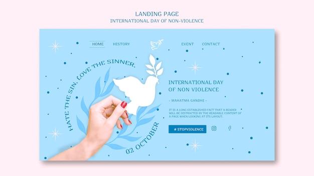 Międzynarodowy Dzień Projektowania Strony Docelowej Bez Przemocy Darmowe Psd