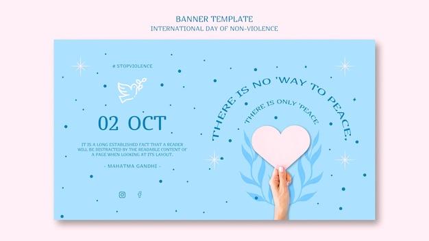 Międzynarodowy Dzień Sztandaru Bez Przemocy Darmowe Psd
