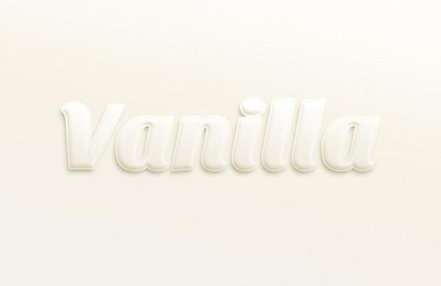 Miękkie typografia efekt tekstu psd Darmowe Psd