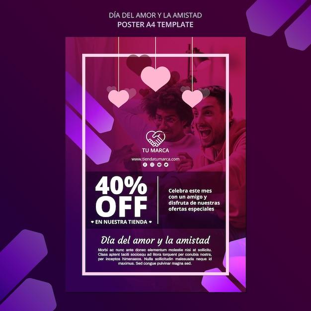 Miłość I Sprzedaż Szablon Papeterii Plakat Darmowe Psd