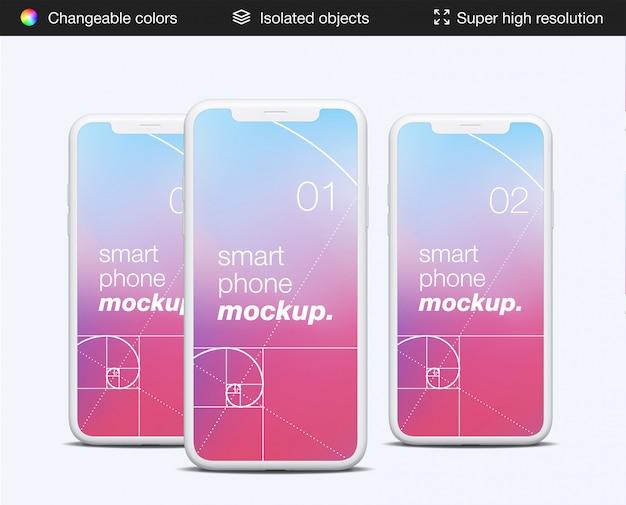 Mimimalistyczny Szablon Makiety Ekranu Aplikacji Smartfona Widok Z Przodu Premium Psd