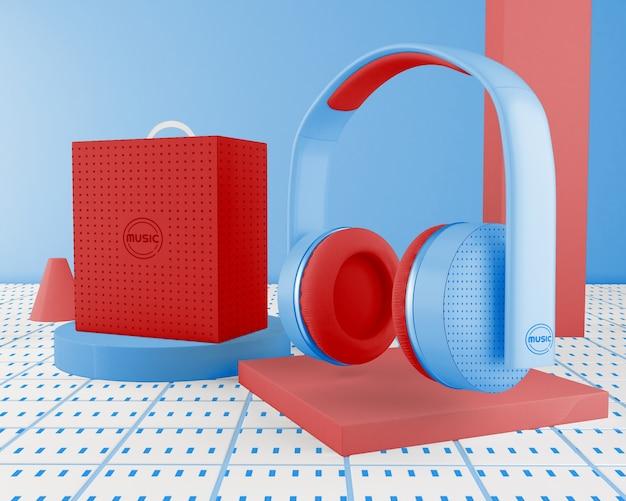 Minimalistyczny Układ Z Zestawem Słuchawkowym Darmowe Psd