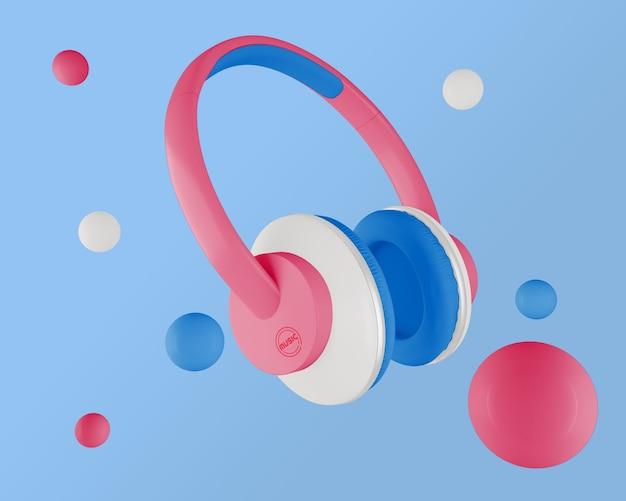 Minimalistyczny Układ Ze Słuchawkami Darmowe Psd