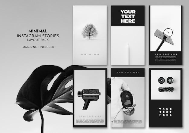 Minimalny Pakiet Czarno-biały Instagramu Darmowe Psd