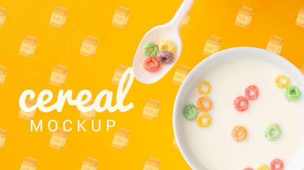 Mleko I Płatki Zbożowe W Misce Na śniadanie Darmowe Psd