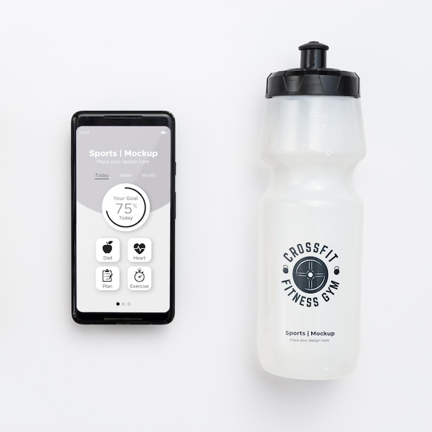 Mobilny Z Butelką Na Wodę Darmowe Psd
