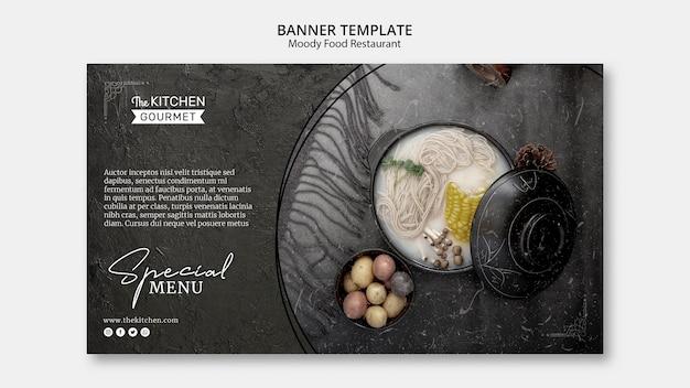 Moody Food Restauracja Transparent Szablon Makieta Koncepcji Darmowe Psd